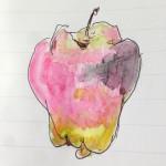 STAEDTLER®(ステッドラー)の水彩色鉛筆で「りんご」も描いてみた
