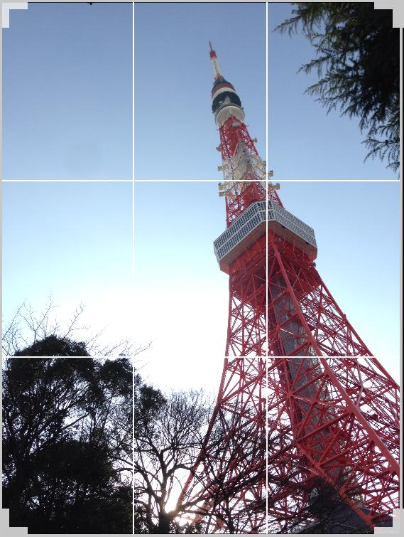 写真撮影テクニック「三分割法」で東京タワーを撮ってみた!